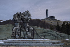 Flaming torches bring concrete hope (Subversive Photography) Tags: fall abandoned monument architecture concrete ruins torches atmosphere ufo communist bulgaria urbanexploration soviet socialist derelict ironcurtain urbex buzludzha ruinsofmodernity danielbarter