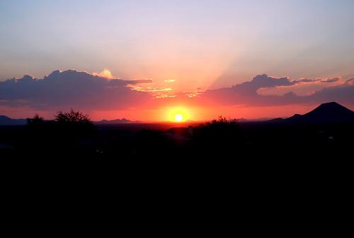 Phoenix area sunset