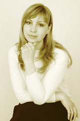 Yulia (jnm_ua) Tags: portrait woman beauty look sepia canon wonderful hair golden spring eyes hands europe may monotone ukraine elite wait romantic northern flossy yulia slavic