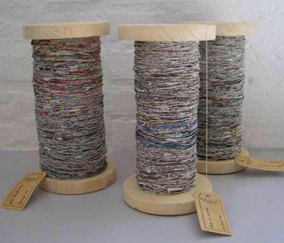 spin green: newspaper yarn