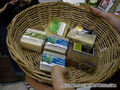 Organic soap bars - we bought a bunch of these