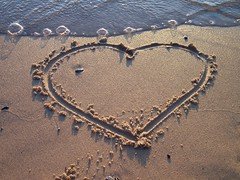 Love the Beach (tracydekalb) Tags: love beach writing sand heart michigan lakemichigan southhaven vanburenstatepark