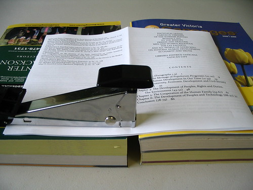 How to staple a booklet using a regular stapler