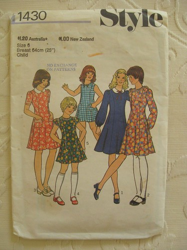 Vintage Simplicity 1430 size 6 by you.