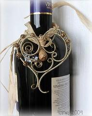Heart for Two (Taniri) Tags: wire jasper heart jewelry brass