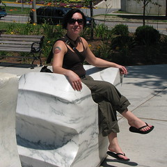 selene on a marble throne (origamidon) Tags: usa burlington square vermont sq waterside vt 05401 greenmountainstate chittendencounty origamidon donshall burlingtonvermontusa obamatattoo seleneonamarblethrone marblethrone selenehofershall