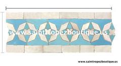 Moorish tile: Zellige tile (www.sainttropezboutique.us) Tags: spanishtile zellij zillij mediterraneantile zellige moroccantile moroccanmosaictile moorishtile moroccotile islamictile moroccanceramictile feztile marrakechtile zelligetile zillijtiles moorishceramictiles fezceramictiles moroccantileshop