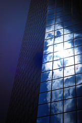 heavens reflected 1 (Will Montague) Tags: blue sun white reflection building glass clouds skyscraper nikon downtown lexington kentucky reflect highrise heavens montague explored d80 lexingtonfinancialcenter willmontague