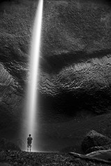 Self Portrait (Jon Asay ) Tags: portrait bw oregon self river portland waterfall long exposure afternoon young columbia falls gorge years 32  latourell