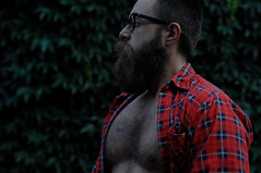 hornrims (postbear) Tags: selfportrait toronto me fur glasses friday plaid hornrims fyff
