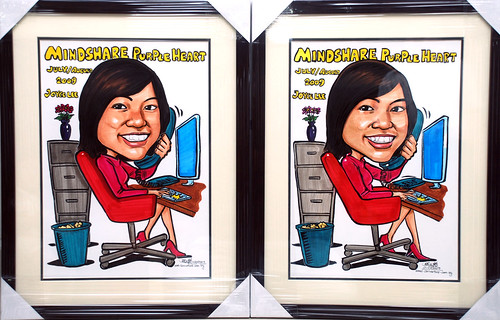 Caricatures for Mindshare with frames