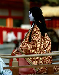 Dame Murasaki (colodio) Tags: kyoto japan clb60cemurasakishikibuoa8 clb60murasakicrop8jpg murasaki shikibu dame lady japanese writer geisha jidai matsuri heian japon japonais 1993