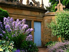 Summer Garden Scene at Hardwick Hall in Derbyshire
