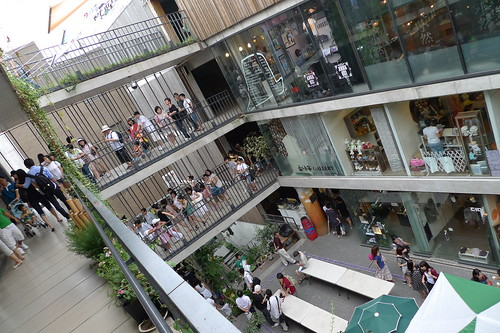 People walking up the Insadong Arcade