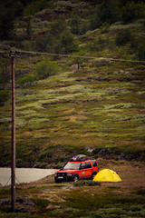 Land Rover Life (Tberga|) Tags: camping camp orange holiday norway norge vakantie g4 offroad 4x4 rover land discovery 2009 challenge tangiers noorwegen lr3 visdalen