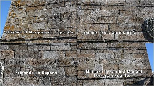 Inscripción da reforma da igrexa de San Bieito, Fefiñáns, Cambados