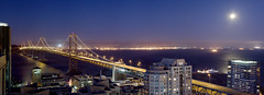 Bay Bridge closure (exxonvaldez) Tags: sanfrancisco panorama night baybridge closure sfist