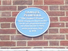 Photo of Samuel Plimsoll blue plaque