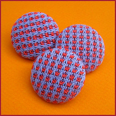 Knitted buttons (Birthine) Tags: buttons knit strik knapper knittedbuttons strikkedeknapper