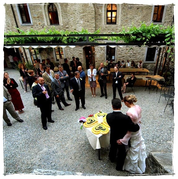 Wedding reception at Bellinzona Castle