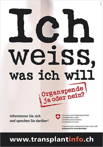 BAG Organspende Info-Kampagne 2009