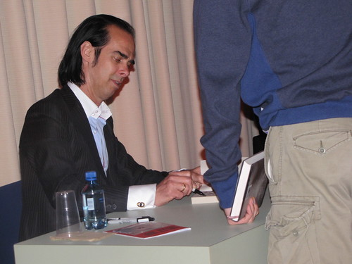 Nick Cave signing The Death of Bunny Munro at the Purcell Rooms 09.09.09