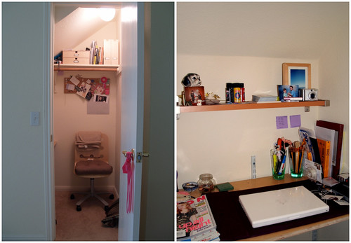 Closet= office