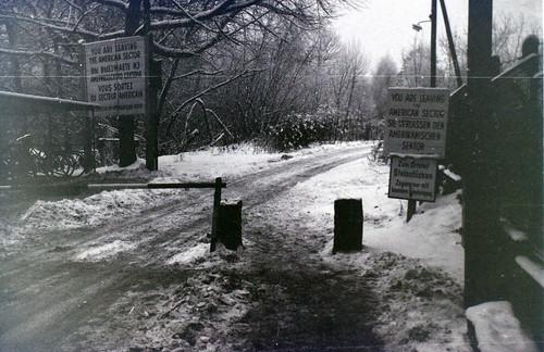 The road to Steinstuecken, Berlin, c.27 December 1964