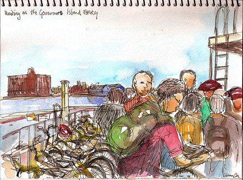 Sketchcrawl 24: Ferry to Governors Island