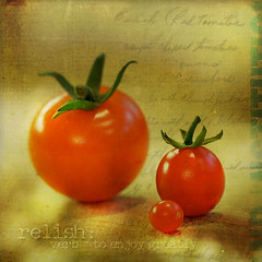 i say tomato (anniedaisybaby) Tags: autumn red food macro green fall closeup thanks tomato recipe jenny harvest textures relish to cherrytomato earlyautumn dictionaryofimage milesdscott awardtree lesbrumes travelsofhomersodyssey cranberrytomato handwrittenrelishrecipe gleanedfromthenets