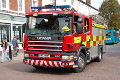 Staffordshire Scania Fire Engine DX53HMF - Tamworth (dwb photos) Tags: staffordshire tamworth dx53hmf