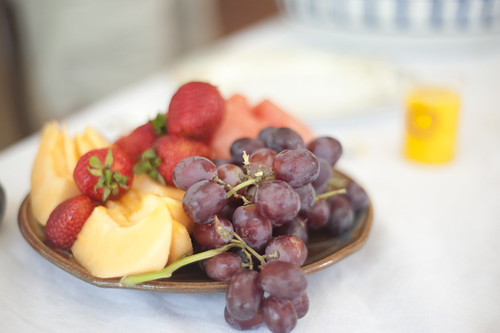 End of Summer Fruit Plate