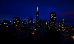 Rayless (El Justy) Tags: sanfrancisco california city light sky skyline architecture night buildings downtown glow cityscape skyscrapers lol telegraphhill transamericapyramid citybythebay meganfox justinrice riceimages flickrunitedaward