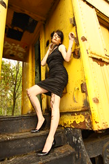 GREASE. (Christa Boyles) Tags: girls light two portrait woman hot cute sexy abandoned ex girl rural speed train portraits canon wow fix nude outdoors photography women pennsylvania awesome flash central over young tracks trains location tools dirty tokina grease pa dirt abandon half huge 24 fixing 12 nudity oversized christa hott mechanic speedlight 1224mm tool f4 wrench external partial 1224 xsi 430 boyles sized speedlite 430ex tokina1224mm 16625 450d claysburg