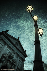 Dusk in Venice (-yury-) Tags: venice italy texture church lamp night canon italia dusk 5d venezia abigfave ultimateshot