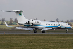 5H-ONE - Tanzania Government - Gulfstream G550 - Luton - 090305 - Steven Gray - IMG_0417