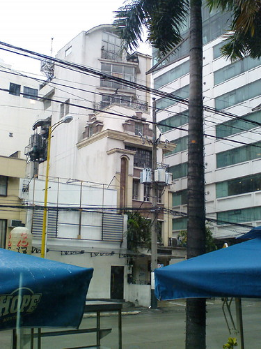 Narrow building on Makati Avenue