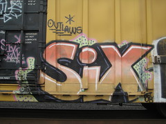 Six (El~presidente1) Tags: 6 portland graffiti six outlaws siks sixr