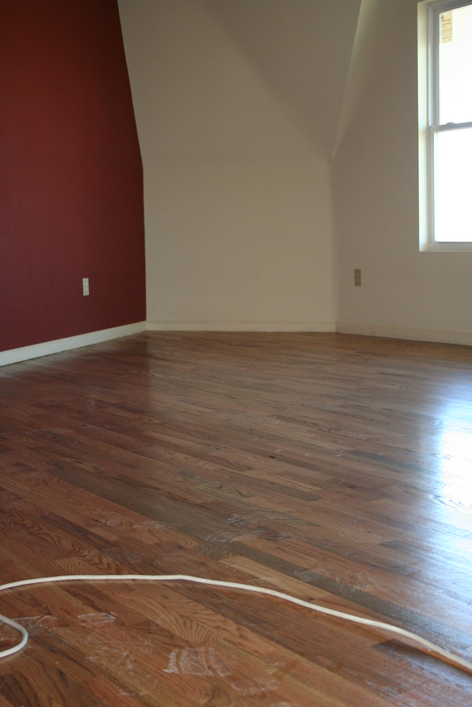 Finished floor in family room