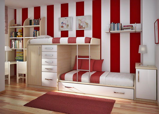 Kids Bedroom and Study Room Ideas from Sergi