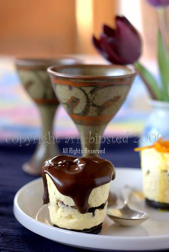 Oreo Orange Mini Cheesecake with Chocolate Ganache by Arfi Binsted 2009