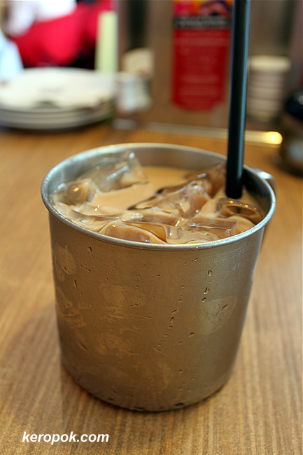 Ice Tea in a metal container