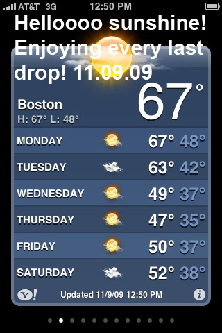 Awesome weather day in Boston