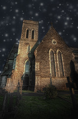 St Peter's Church , Far Sawrey  , Cumbria (stumayhew) Tags: church photoshop canon mask gothic lakedistrict cumbria layer 5d topaz cs3 stpeterschurch farsawrey remask