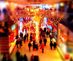 Christmas lights (dave416) Tags: christmas shopping malls eatoncentre iphone eatoncenter tgamdecor