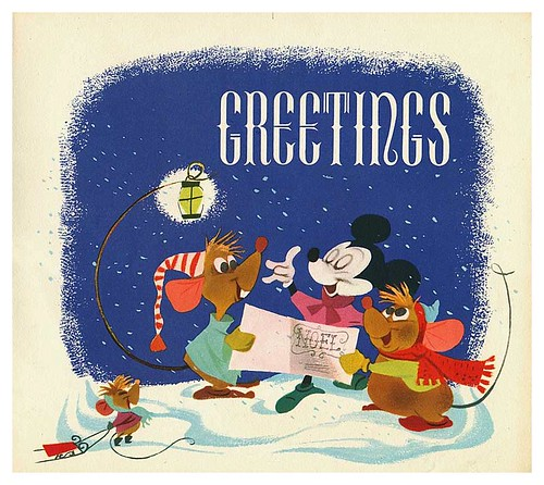 008-Tarjeta de Navidad Disney 1950-ASIFA Hollywood