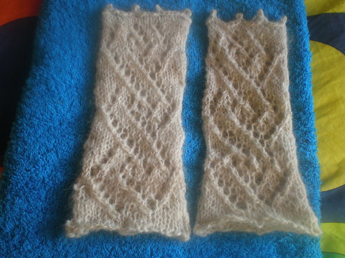 handspun fingerless mitts