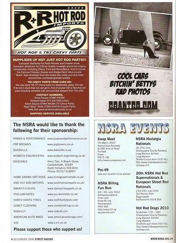 Street Gasser December 2009 Advert