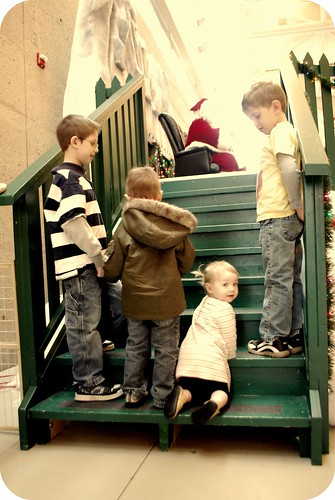 Stairs to see Santa.
