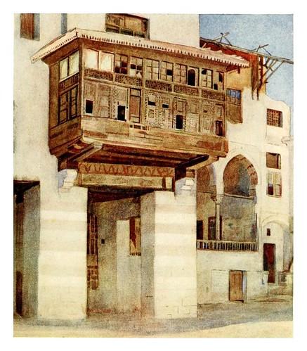 021-Una antigua casa cerca del bazar de los Diez Fabricantes en el Cairo-Cairo, Jerusalem, and Damascus..1907- Margoliouth D. S.